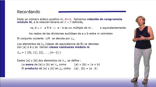 Propiedades de la suma y el producto en Zm