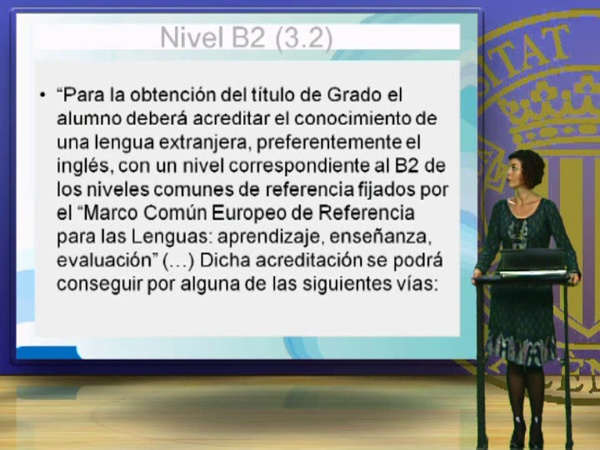 El nivel B2 del Marco Común Europeo de Referencia para las Lenguas (MCERL)