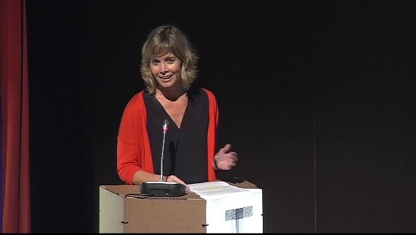 Ilustrafic 2. Conferencia de Carles Porta, presentada por Sara Álvarez.Auditorio Alfons Roig, BBAA, UPV, Valencia.