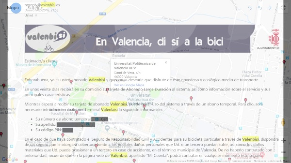 Protocol Guide to apply for a Valenbici subscription with the EMT transport card