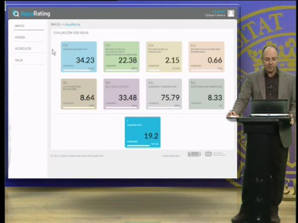 Introducir datos en indicadores de desempeño web AquaRating