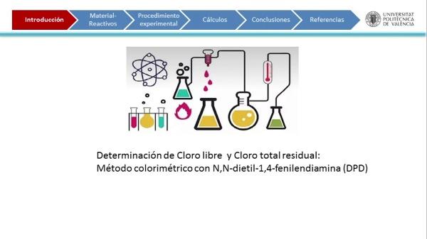Desinfección del agua: determinación colorimétrica del cloro libre y cloro total con DPD