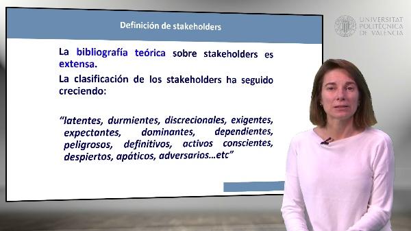 Introducción a la gestión de stakeholders. Identificación y categorización