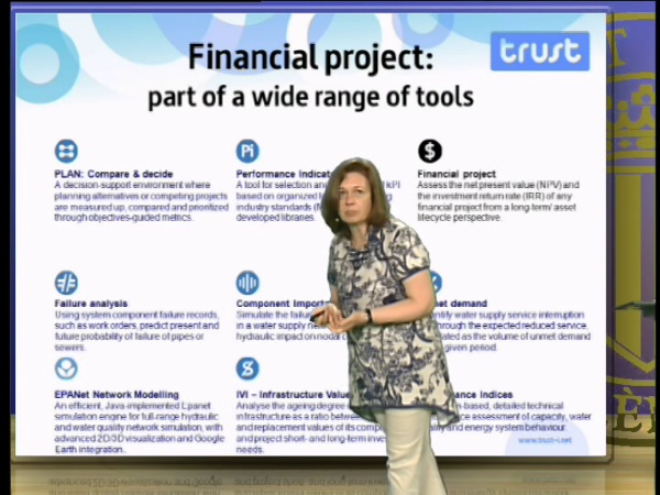 Financial Project, a TRUST financial analysis tool to support management decisions