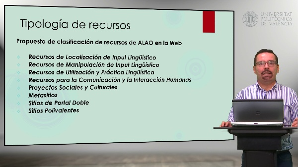 Tipos de recursos de aprendizaje de lenguas a través de la Web