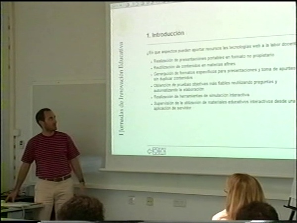 Comunicación 39, Desarrollo de material didáctico mediante tecnologías web (JIE)