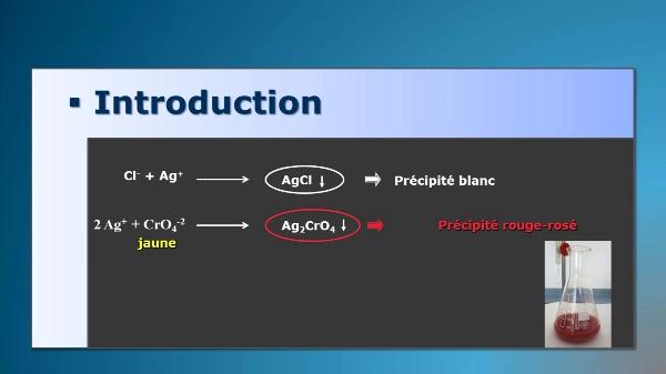 Détermination de chlorure dans l' eau (méthode de Mohr)