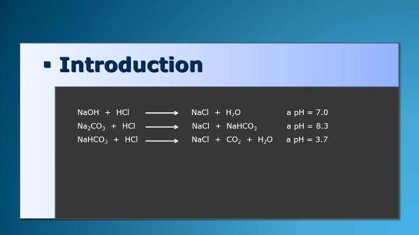 Détermination de l'hydroxyde de sodium et carbonate de sodium dans une solution alcaline