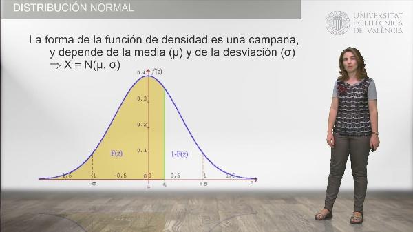 Distribución Normal. Cálculo de probabilidades usando la tabla de la distribución normal tipificada
