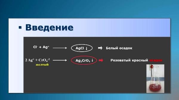 Determinación de cloruros en aguas (Ruso)