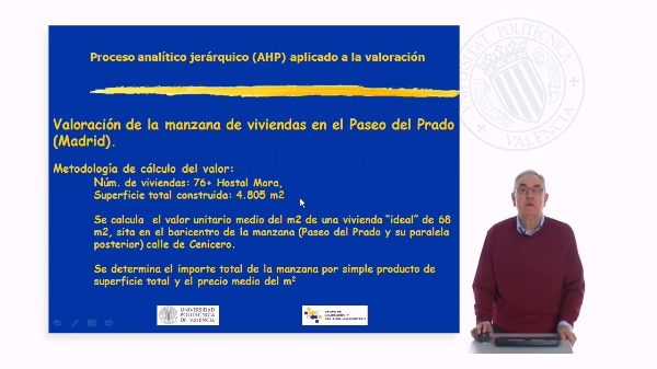 Valoración Paseo del Prado mediante AHP