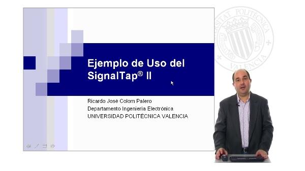 Ejemplo de uso del SgnalTap II