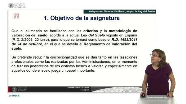 Valoracion Rural, segun la Ley del Suelo.
