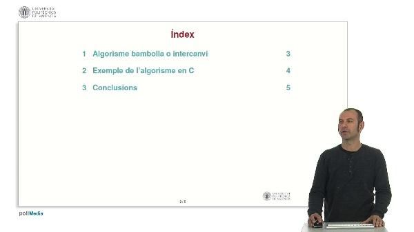 Algorisme d'ordenació: bambolla o intercanvi