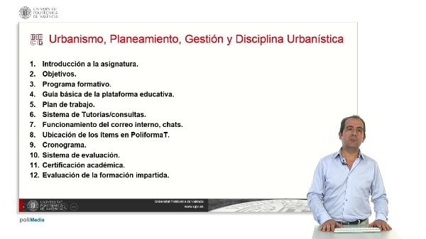 Urbanismo, Planeamiento, Gestion y Disciplina Urbanistica