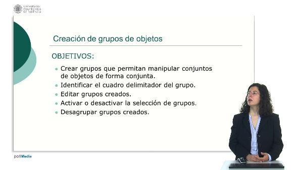 Creación de grupos de objetos