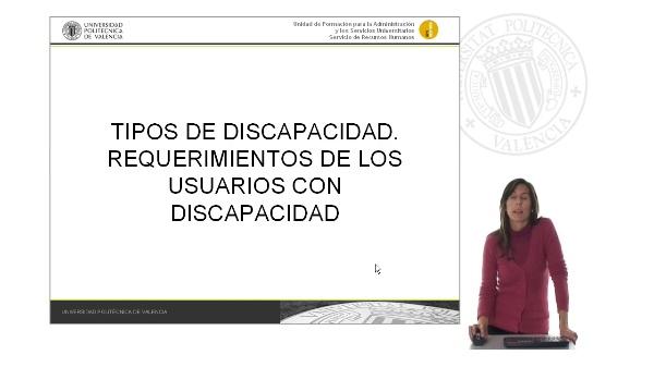 Presentación Unidad 2: Tipos de Discapacidad.