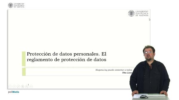 Protección de datos personales. El reglamento de protección de datos