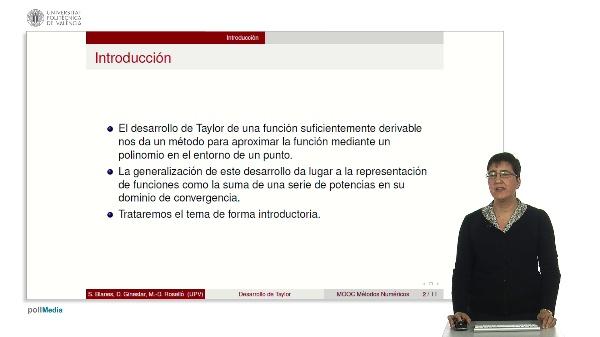 Desarrollo de Taylor de una función