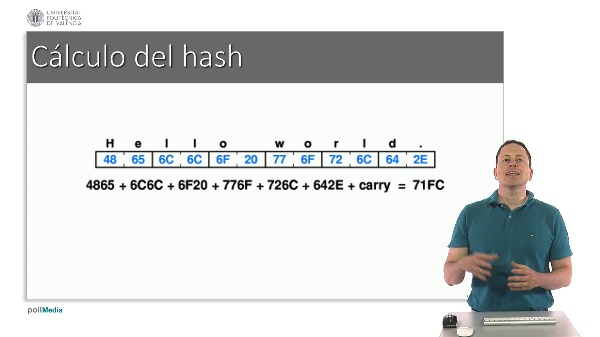 Medidas de seguridad informática. Función hash