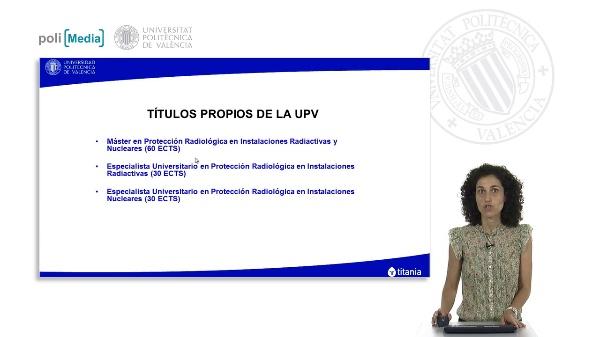 Presentación de los títulos propios en materia de protección radiológica
