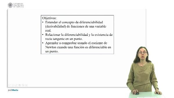Diferenciabilidad de funciones de una variable.