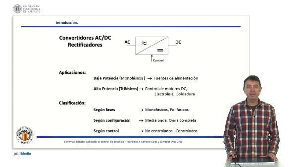 Convertidores AC/DC. Rectificadores. Introducción.