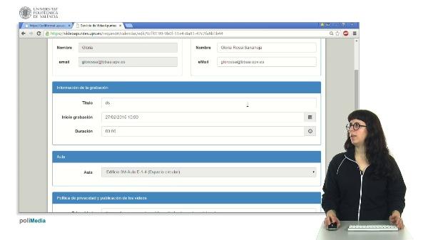 Cómo modificar o eliminar una solicitud de Videoapuntes