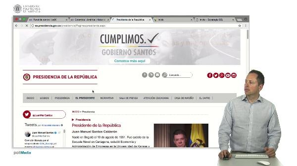 Páginas web institucionales de Colombia