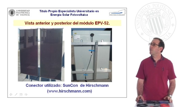 Montaje de los conectores SunCon de Hirschmann para el conexionado de los módulos EPV-52
