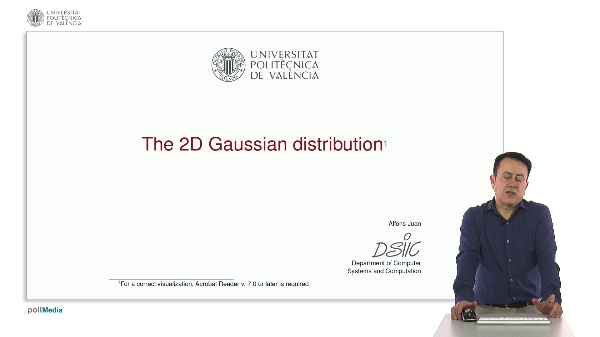 The 2D Gaussian distribution