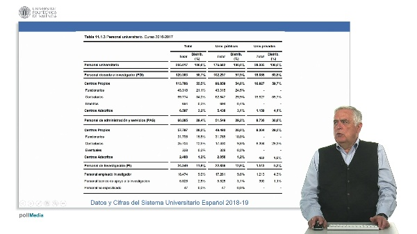 La carrera universitaria y categorías de profesorado en la Universidad privada.