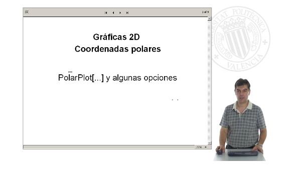 Gráficas 2D. Curvas en coordenadas polares con Mathematica