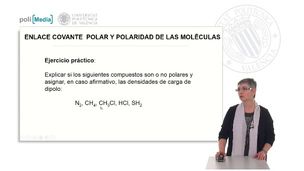 Enlace covalente polar y polaridad de las moléculas. Ejercicio práctico