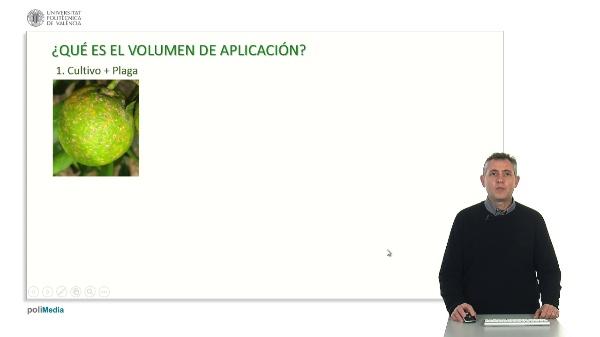 EL VOLUMEN DE APLICACIÓN