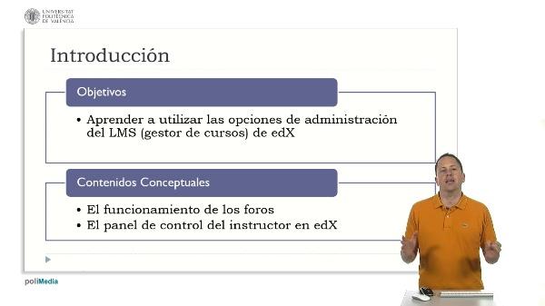 Las opciones de administración del LMS. Introducción