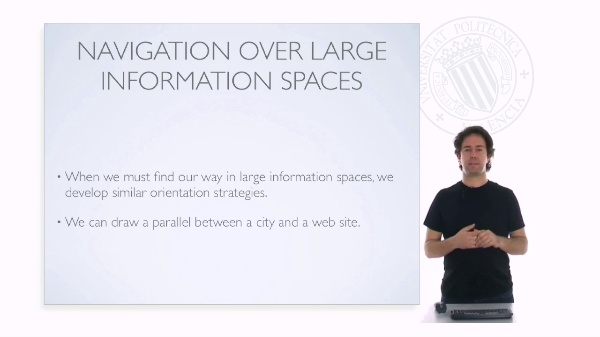 Web design: Navigation over large information spaces