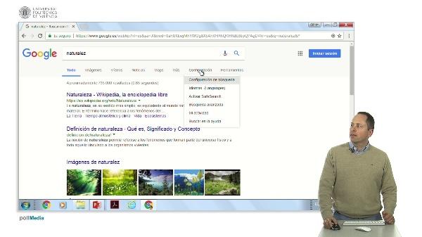 Buscar en Internet. La configuración de Google