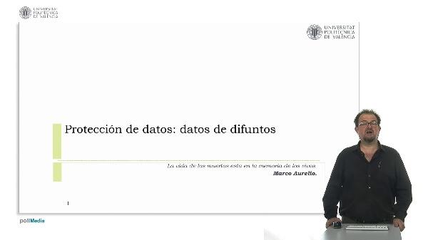 Protección de datos: datos de difuntos.