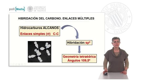 Hibridación del carbono. Formación de enlaces múltiples