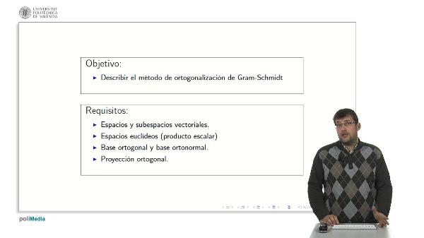 Método de Ortogonalización de Gram-Schmidt