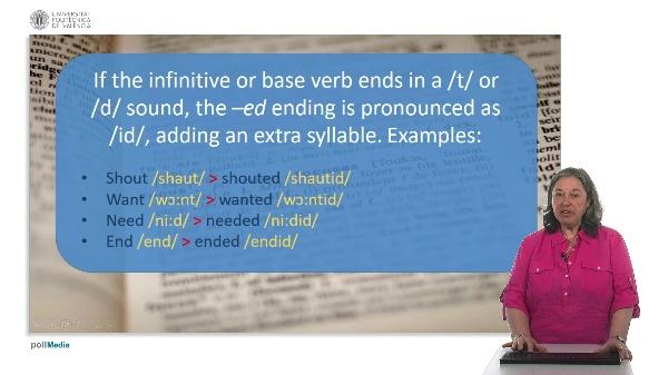 Course unit 2. Speaking. Phonetics. Suffix - ed