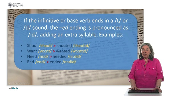 Pronunciation. Suffix -ed