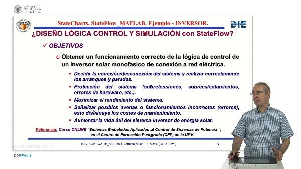 Curso de ingeniería del software para sistemas embebidos. Modulo 13 parte 5. StateFlow_MATLAB