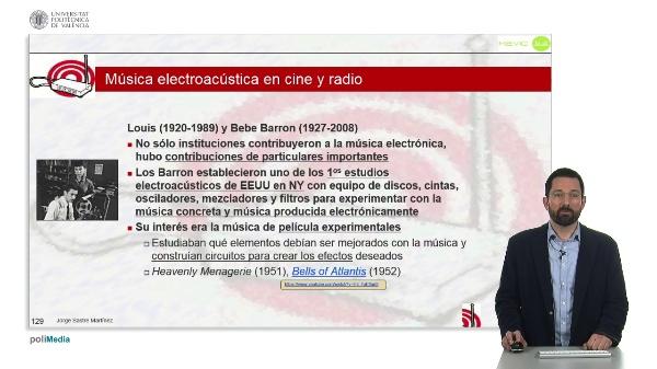 Musica electronica en cine y radio