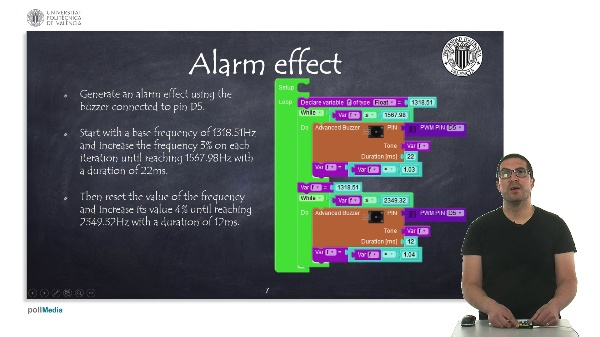Programming examples: Alarm effect