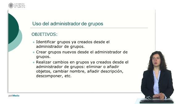 Uso del administrador de grupos