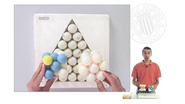Enlace metálico: estructuras cúbica centrada en caras (CCC) y hexagonal compacta (HC)