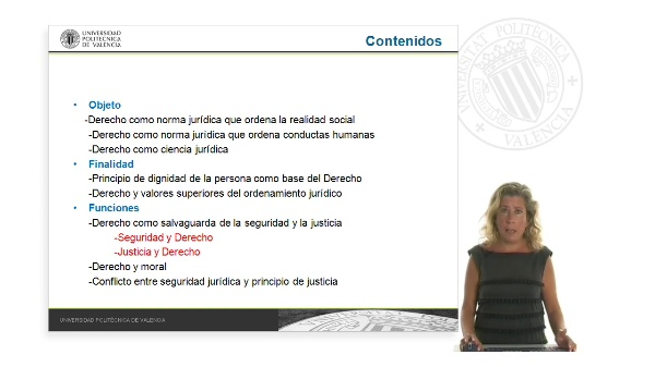 Objeto, finalidad y funciones del Derecho