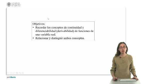 Diferenciabilidad vs. Continuidad de funciones de una variable.